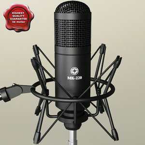 3d model of condenser microphone oktava mk
