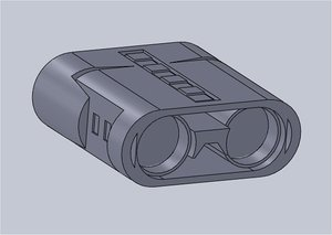 3d model of binoculars jumelles