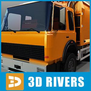waste truck garbage 3d model