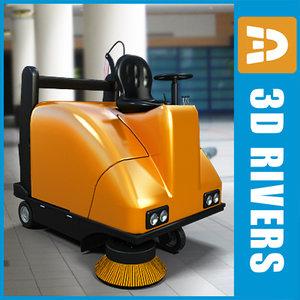 3d max street sweeper