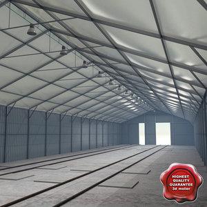 3d hangar v2 model