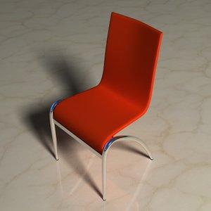3d chrome plastic chair