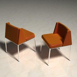 leather chrome chair lwo