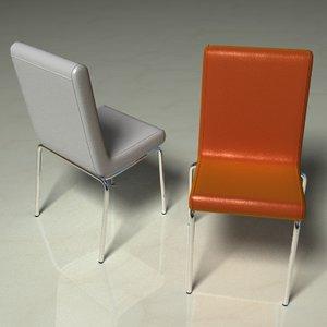 lightwave leather chrome chair