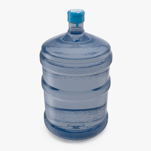 3D 5 gallon water bottle