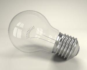 free light bulb 3d model