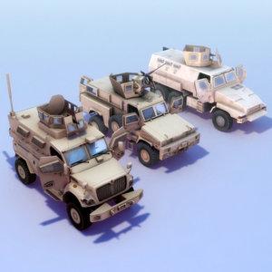 3ds max mrap trucks maxxpro