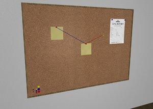cork board pins c4d