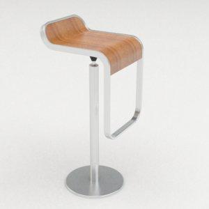 lem bar stool 3d 3ds