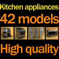 3d model of kitchen appliances