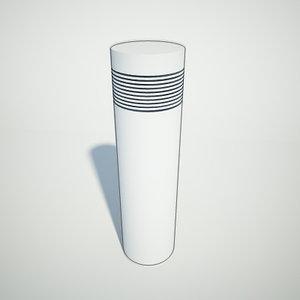 bollard light 3d model