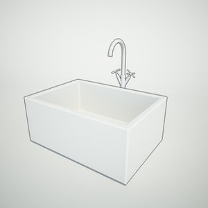 butler sink 3d model