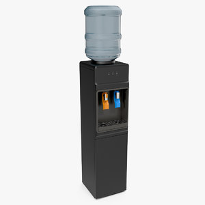 3D loading water cooler dispenser model