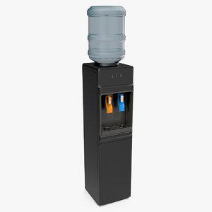 3D loading water cooler dispenser model