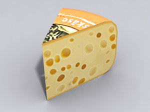 piece cheese 3d model