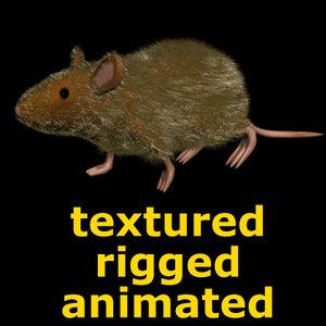 rat mouse bones 3ds