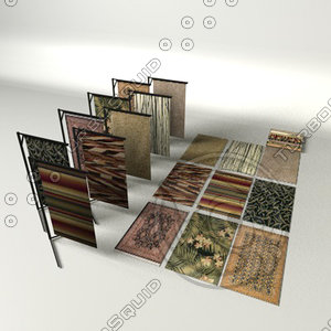 3d model of assorted rug