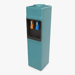 3D bottleless water cooler dispenser