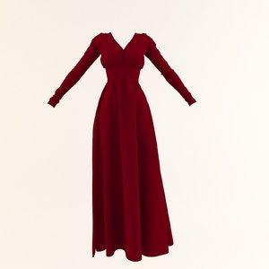 3D woman red velvet model