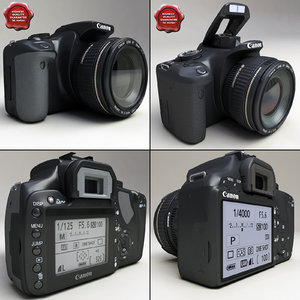 canon eos 400d 450d 3d model