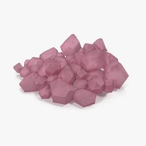 rose quartz 3D model