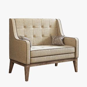 realistic sofa model