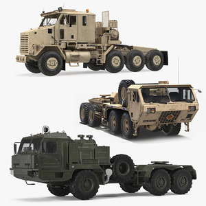 3D military trucks collction