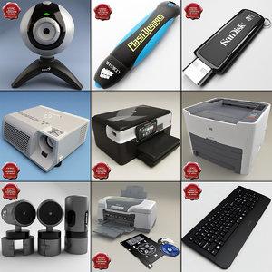 pc accessories 3d model