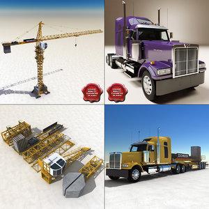 maya tower crane transport truck
