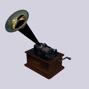 modelled edison phonograph b 3D