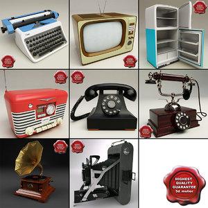 retro electronics v2 3d model