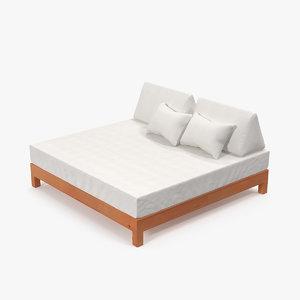 3D wooden kingsize bed