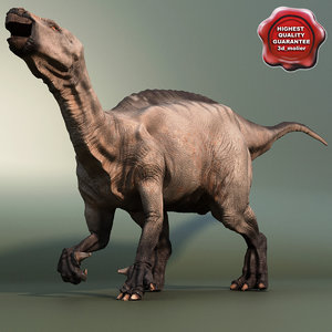 3d dinosaur iguanodon model