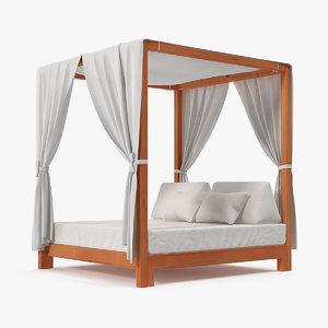 wooden bed outdoor leisure model