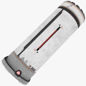 sci-fi shotgun shell 3D