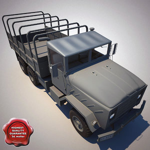 m923 a1 cargo truck 3d model