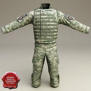 soldier clothes v5 3d model