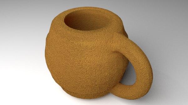 mug clay model