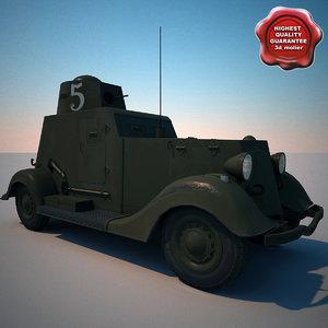 armored car ba-20m v2 obj