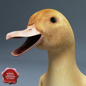 3dsmax duckling pose3