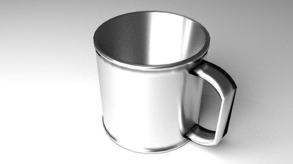 3D mug steel