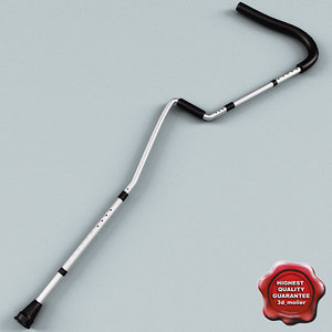 3d crutches modelled model