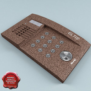 intercom modelled 3d max