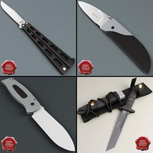 3d knives v3 model