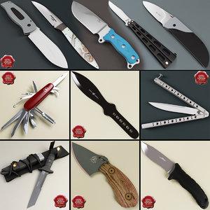 3d model knives v4