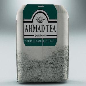 tea bag ahmad 3d model