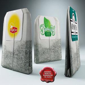 tea bags 3d model