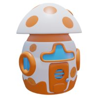 3D egg house model
