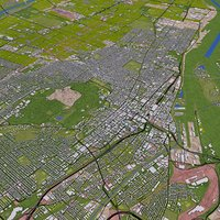 montreal usa roads 3D model