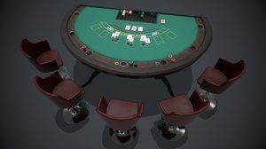 pbr blackjack table 3D